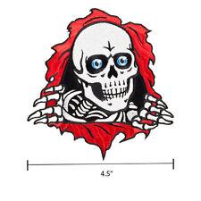 Powell Peralta Bones Ripper Woven Patch 4.5 Inch Old School Skull Skateboard