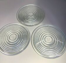 Lot of 3 Prescolite Round Clear Prism Glass Fresnel Lens 8-1/4 inches