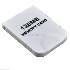 128M 128MB Game Memory Card For NINTENDO WII GameCube Console GC White
