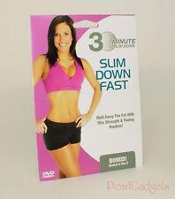 Exercise Dvd Workout 30 Minute Quick Fat Burner Slimdown Stretch & Flex II Bonus