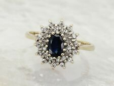 Cluster Engagement Sapphire Fine Rings