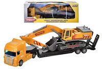 Toy Lorry Transporter w/Construction Vehicle (Digger) Boys1.55 Carry Xmas Gift