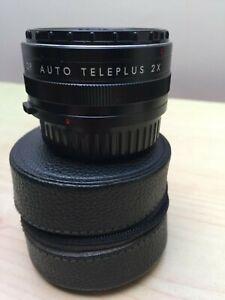 Vintage KENKO OP Auto Teleplus 2x Lens With Genuine Leather Case - Olympus OM?