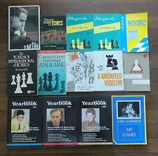 Rares Anciens 14 Livres Jeu d'Echecs Lot No 2. Rare Vintage Chess Books.