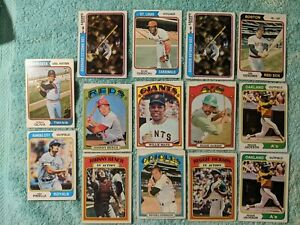 1972 and 1974 Topps Baseball Cards Lot  (14)