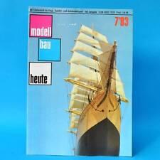 Modellbau heute 7/1983 GST DDR Flugmodellbau Schiffsmodellbau | F1B-Modell VR-22