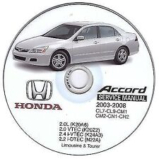 Honda Accord (2002-2008) manuale officina workshop manual