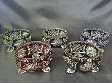 Color crystal cut glass - Bowl set 12cm 5pc