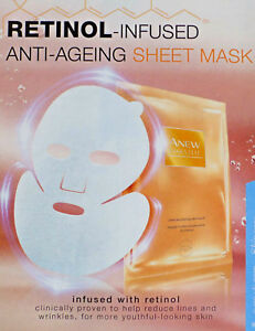 AVON ANEW ESSENTIAL YOUTH MAXIMISING FACIAL SHEET MASK  x 3 ~  *BRAND NEW*