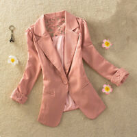 Fashion Women's Suit Coat Business Long Sleeve Lace Outwear Ladies Casual Tops