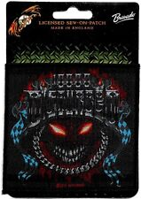 Official Merch Woven Sew-on PATCH Heavy Metal Rock DISTURBED Chrome Smiley