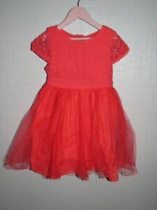 ~ 6 ans VERTBAUDET - BUC607 ~ Superbe robe de cérémonie rose Fille ~