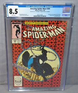 AMAZING SPIDER-MAN #300 (Stan Lee & Todd McFarlane Signed) 1st Venom CGC 8.5 VF+