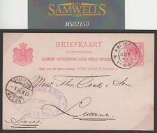 MS2150 1899 NETHERLANDS *Thomas Cook FAC* FORWARDING AGENT CACHET Card Lucerne