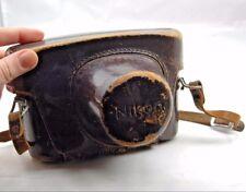 Nikon S3 rangefinder Vintage Brown Genuine Leather Hard Camera Case