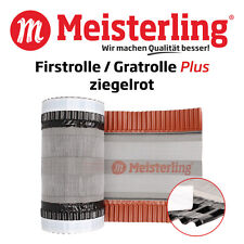 Meisterling® Firstrolle / Gratrolle Plus rot à 350 mm Breite x 5 m, Firstband