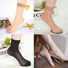 3,6,12 Pairs Ladies Ankle High Tights Pop Socks 15 denier Comfort Top Size 4-7