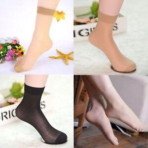 6x Ladies Women Silky 15 Denier Smooth Knit Trouser Comfort Top Anklet Pop Socks