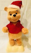 "Winnie the Pooh Disney Vintage 17"" Telco Animated Motionette Christmas Decor"