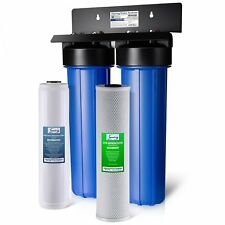 iSpring Big Blue WGB22B-PB 2-Stage Whole House Water Filtration System