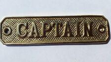 Nautical Brass Captain Door Wall Plaque Sign