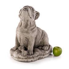 Tierfigur Steinfigur Dekofigur NEU 42cm 28kg Hund Bulldogge Skulptur Garten Deko