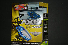 AIR HOGS RC AXIS 200 HELICOPTER Learn to Fly Indoor Use BLUE *New in Box*