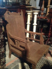 pugin victorian oak chair church papal bishop throne pew cathedra 19th CENTURY