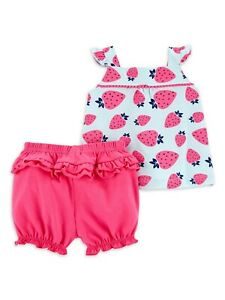Carters Baby Girls CUTE 2 Piece Outfit (Size 3-6 M) BRAND NEW W TAGS