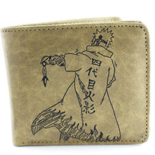Naruto Namikaze Minato Bifold Leather Wallet Card Holder Purse Bag Cosplay Gift
