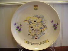 Vintage Wade England Porcelain New Brunswick Canada Plate