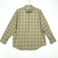 Turnbury Shirt Mens Size XL Brown Plaid Long Sleeve Button Front Cotton
