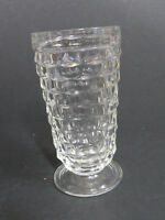 Vintage Indiana Glass Footed Tumbler American Whitehall Cubist Cube