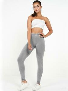Womens Stretchy Leggings Grey Acid Wash Legging Active Size 14 10 12 8 New