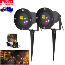2X LED Laser Projector Light RGB Moving Xmas DJ Disco Bar Party Garden Lights