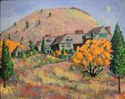20th c. FAUVIST Post Impressionist MOUNTAIN LANDSCAPE PAINTING Unknown Artist