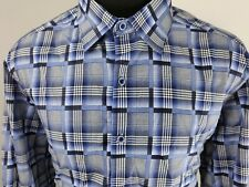 Robert Graham Classic Fit Mens Long Sleeve Button Front Shirt Size XL Flip Cuff