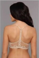NEW Natori Feather  Front Close T-Back Bra Nude US Size 32D #735023