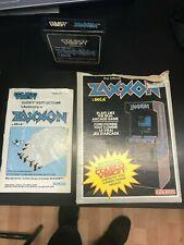 VINTAGE Coleco Vision Zaxxon Game Cartridge Box Manual COMPLETE CIB-Original