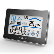 BALDR LCD Touch Buttons In/ourdoor Thermometer Clock Humidity  Weather station