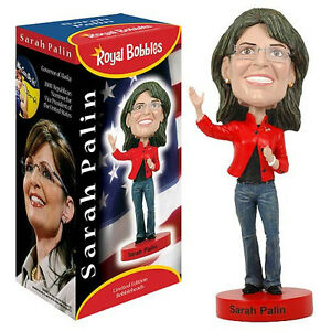 "Sarah Palin Ceramic Bobble Head Royal Bobbles Officially Licensed 8"" Tall"