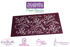 Printing Mesh Stencil | Doodle Calligraphy Freeform | Cake Decorating Craft