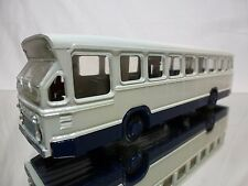 LION TOYS 38 DAF CITY BUS - WHITE RED BLUE 1:50 VERY RARE - GOOD CONDITION