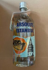 1 Flasche Absolut Vodka - Istanbul - Limited Edition - 700ml - 40% mit Tag