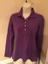 NEW w/tags - Women's -Purple -Long Sleeve -Shirt -Sz XS -Polo -Relaxed Fit -NICE