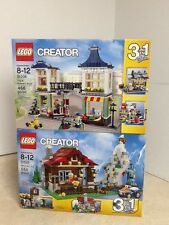 LEGO CREATOR TOY AND GROCERY SHOP 31036 AND MOUNTAIN HUT 31025 RETIRED