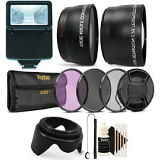 52MM Lens Filter Accessory Kit with Slave Flash for NIKON D3300 D3200 D3100 D90
