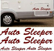 AUTO SLEEPER MOTORHOME 4 PIECE KIT DECALS STICKERS CHOICE OF COLOURS & SIZES