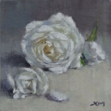 """""""Rose"""" original fine art still life floral oil painting by Xiaomei Griffiths"""