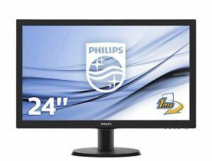Philips 243V5LHSB/00 59,9 cm 23,6 Zoll Monitor Full HD 1920x1080 VGA DVI HDMI